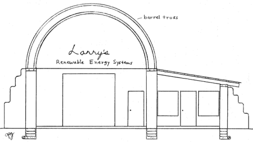 Barrel Vaulted Earthbag Shop