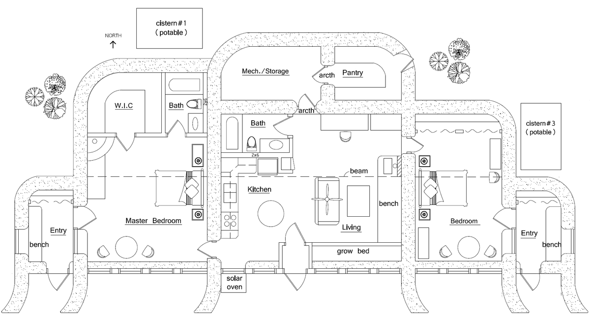 About earthbag house plans for Earthbag house plans free
