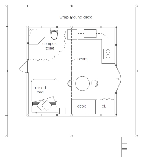 $300 Forest House floorplan (click to enlarge)